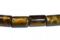Tiger Eye (Natural) A Grade Big Hole Tube Beads