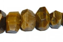 Tiger Eye ,Natural, A Grade,Faceted Nugget Gemstone Beads