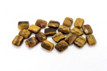Tigers Eye (Natural) Faceted Flat Rectangle Gemstone Beads