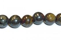 Tiger Iron Big Hole Round Gemstone Beads