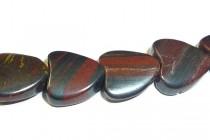Tiger Iron (Natural) Heart Gemstone Beads