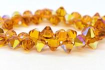 Topaz AB Swarovski Crystal Top Drilled Bicone Pendants 6301