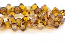 Topaz Satin Swarovski Crystal Top Drilled Bicone Pendants 6301