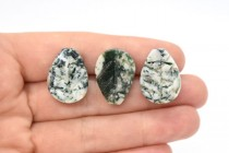 Tree Agate (Natural) Carved Leaf Gemstone Beads
