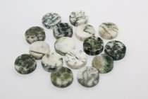 Tree Agate (Natural) Coin Gemstone Beads