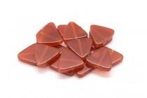 Carnelian (Dyed/Heated) Triangle Gemstone Beads