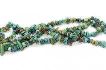 Chinese Turquoise Green / Blue (Natural) Chip Gemstone Beads