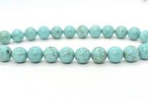 Turquoise (Dyed/Stabilized) Smooth Round Gemstone Beads