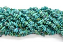 Bright Turquoise (Natural) Irregular Chip Gemstone Beads