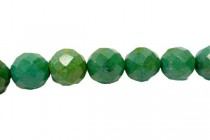 Turquoise (Dyed/Stabilized) Faceted Round Gemstone Beads