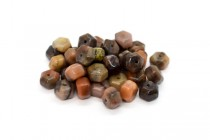 Turtle Shell Agate (Natural) Six Sided Drum Gemstone Beads