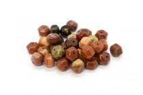 Turtle Shell Jasper (Natural) Six Sided Drum Gemstone Beads