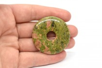 Unakite (Natural) Donut Gemstone Pendant