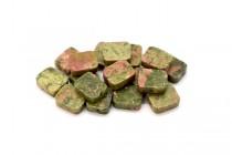 Unakite (Natural) Flat Rectangle Gemstone Beads