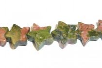 Unakite (Natural) Star Gemstone Beads