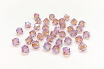 Vintage Rose AB 2x  5301 Swarovski Elements Crystal Bicone Bead
