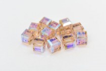 Vintage Rose AB  5601 Swarovski Elements Crystal Cube Bead
