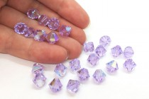 Violet AB 5301/5328 Swarovski Elements Crystal Bicone Bead