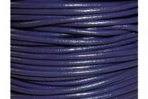 Greek Round Leather Cord - Dark Purple