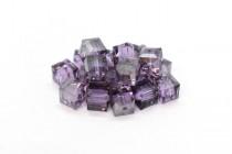 Violet Satin 5601 Swarovski Elements Crystal Cube Beads - 6mm