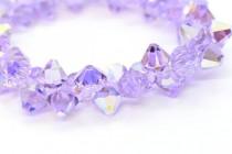 Violet AB Swarovski Crystal Top Drilled Bicone Pendants 6301
