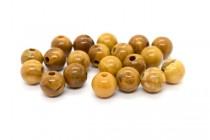 Walnut Jasper (Natural) Smooth Round Gemstone Beads - Large Hole