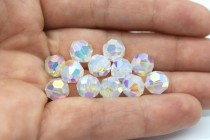 White Opal AB 2X 5000 Swarovski Elements Crystal Round Bead