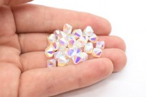 White Opal AB 2X  5301/5328 Swarovski Elements Crystal Bicone Bead