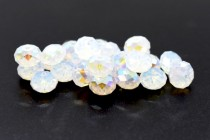 White Opal AB 5040 Swarovski Elements Crystal Rondelle Bead