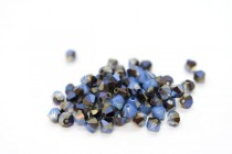 White Opal Sky Blue 5328 Swarovski Elements Crystal Bicone Bead