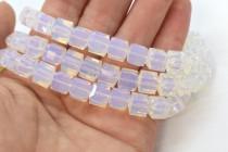 White Opal  5601 Swarovski Elements Crystal Cube Bead