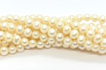 Cream White (Dyed) Potato Freshwater Pearl Beads