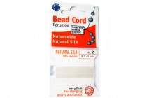Griffin Natural Silk Bead Cord - White