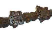 Bone Carved Bead - Butterfly (  Brown )