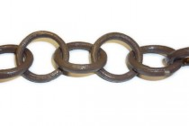 Wood, Circle, Ring, Linked Chain - Dark Brown