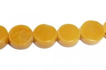 Yellow Jasper (Natural) Coin Gemstone Beads