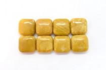 Yellow Jasper (Natural) Pillow/Square Gemstone Beads