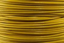 Greek Round Leather Cord - Mustard Yellow