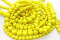 Crystal Neon Yellow - Swarovski Round Pearls 5810