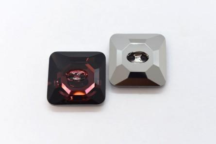 Burgundy Swarovski Crystal Square Faceted Button 3017