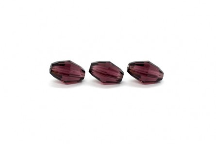 Burgundy Swarovski Crystal Faceted Barrel Beads 5200