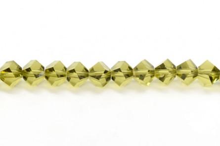Bead,  Swarovski® crystals, Khaki , 4.5mm, faceted simplicity (5310).