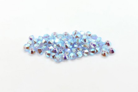 Air Blue Opal AB2x Swarovski Crystal Bicone Beads 5301/5328