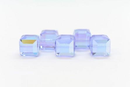 Alexandrite AB 5601 Swarovski Crystal Cube Beads 6mm