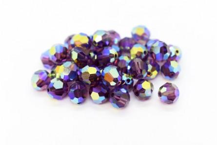Amethyst AB2x Swarovski Crystal Round Beads 5000