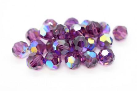 Amethyst AB 5000 Swarovski Elements Crystal Round Bead