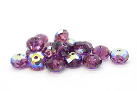 Amethyst AB 5040 Swarovski Crystal Rondelle Bead