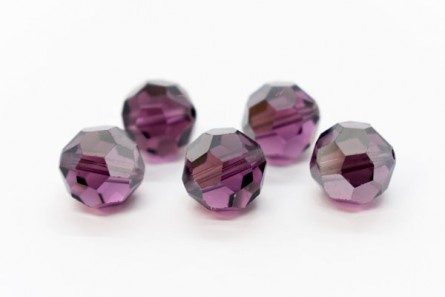 Amethyst Satin 5000 Swarovski Elements Crystal Round Bead