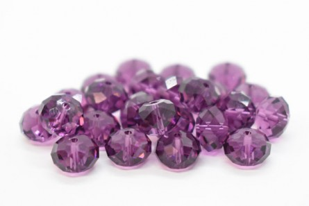 Amethyst Swarovski Crystal Faceted Briolette Beads 5040