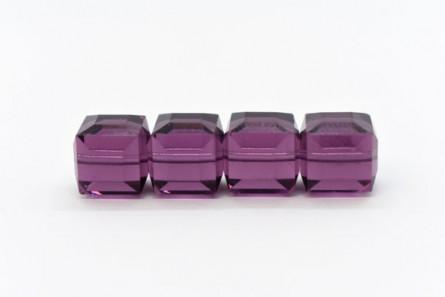Amethyst 5601 Swarovski Crystal Cube Bead